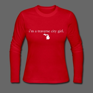 I'm A Traverse City Girl - Women's Long Sleeve Jersey T-Shirt