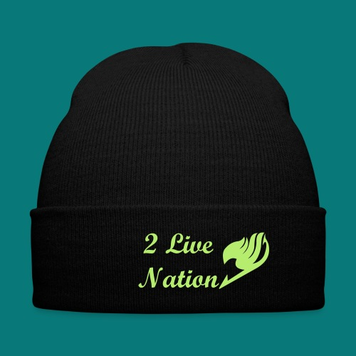 2 Live Nation Hat - Knit Cap with Cuff Print