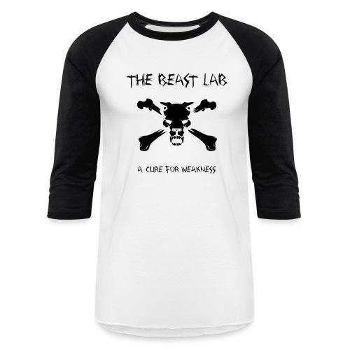 A Cure for Weakness, Raglan T, Black - Baseball T-Shirt