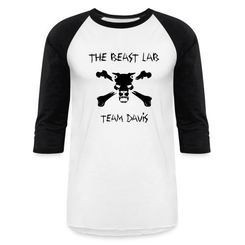 Team Davis, Raglan T, Black - Baseball T-Shirt