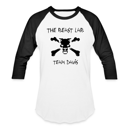 Team Davis, Raglan T, Black - Baseball T-Shirt
