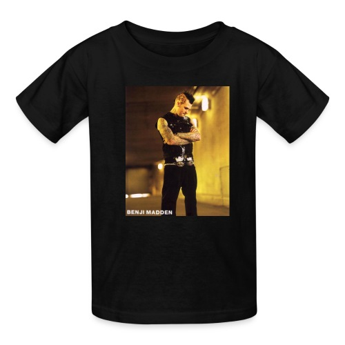 Benji Madden black shirt with Young and Hopeless on back - Kids' T-Shirt