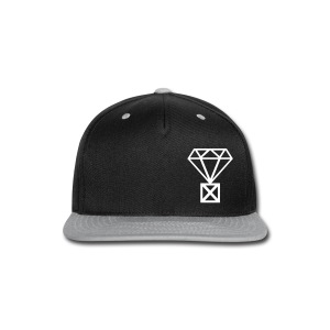 Not Married to the Game Cap | White on Black and Gray - Snap-back Baseball Cap