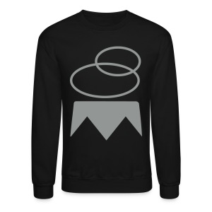Overthrown King Sweater | Gray on Black - Crewneck Sweatshirt