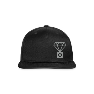 Not Married to the Game Cap | Gray on Black - Snap-back Baseball Cap