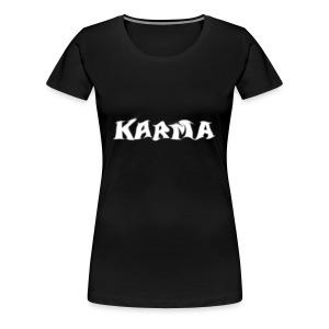 Karma Logo Women T-Shirt - Women's Premium T-Shirt