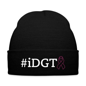 #idgt Breast Cancer Beanie Hat - Knit Cap with Cuff Print
