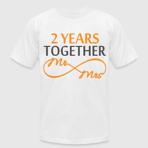 Mr & Mrs Infinite 2 Years T-Shirts - Men's T-Shirt by American Apparel