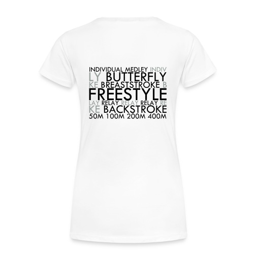 Swim Collage (White) + Eat Sleep Swim - Women's Premium T-Shirt