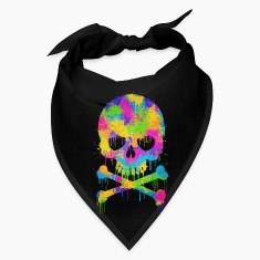 Trendy & Cool Abstract Graffiti Skull  Caps
