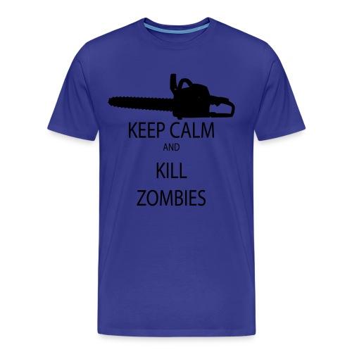 keep calm and kill zombies - Men's Premium T-Shirt