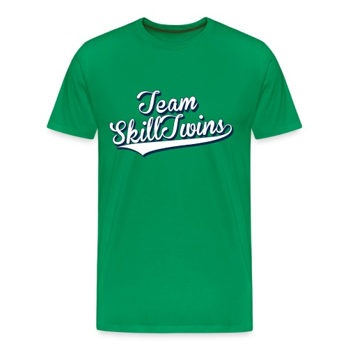 Men's Premium T-Shirt - Rock the streets in this cool ST T-shirt, perfect for different football activities!   This durable kids' t-shirt has double stitched sleeves and hems and it is sure to hold up against the toughest play.  Hashtag your Instagram photo or Tweet us with the hashtag #SkillTwinsShop and we will check you out! // SkillTwins