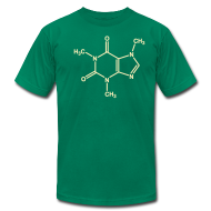 T-Shirts ~ Men's T-Shirt by American Apparel ~ YellowIbis.com 'Chemical Structures' Men's / Unisex American Apparel T: Caffeine (Color choice)