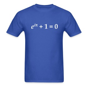 YellowIbis.com 'Mathematics Physics' Men's / Unisex Standard T-Shirt: Euler's Identity (Color choice) - Men's T-Shirt