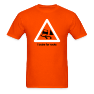 T-Shirts ~ Men's T-Shirt ~ YellowIbis.com 'Geology Symbols' Men's / Unisex Standard T-Shirt: I brake for rocks (Colour choice)