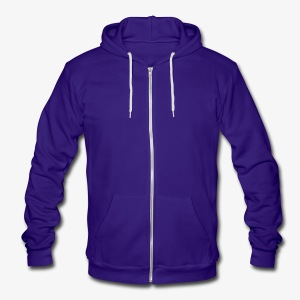 YellowIbis.com Men's / Unisex American Apparel Fleece Zip Hoody: Blank jacket (Color choice) - Unisex Fleece Zip Hoodie