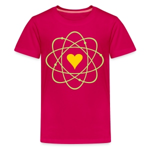 YellowIbis.com 'Physics Symbols' Kids Premium T-Shirt: Atomic Love (Dark Pink) - Kids' Premium T-Shirt