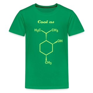 YellowIbis.com 'Chemical Structures' Kids Premium T-Shirt: Cool as menthol (Green) - Kids' Premium T-Shirt