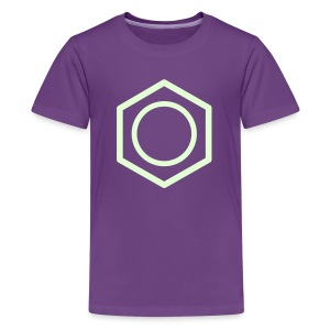 YellowIbis.com 'Chemical Structures' Kids Premium T-Shirt: Benzene (Purple / Glow in the Dark) - Kids' Premium T-Shirt
