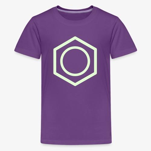 YellowIbis.com 'Chemical Structures' Kids Premium T-Shirt: Benzene (Purple / Glow in the Dark) - Kids' Premium T-Shirt