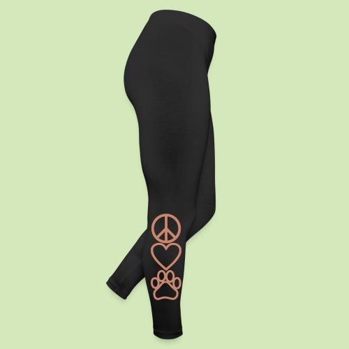 GIVE BACK- Peace Love Paws Glitter - Leggings