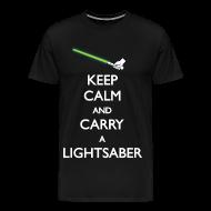 T-Shirts ~ Men's Premium T-Shirt ~ Keep calm carry a Lightsaber