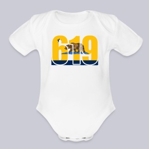 619 Bolts Bear - Short Sleeve Baby Bodysuit