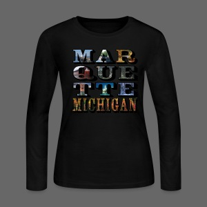 Marquette MI Stacked - Women's Long Sleeve Jersey T-Shirt