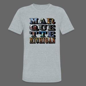 Marquette MI Stacked - Unisex Tri-Blend T-Shirt
