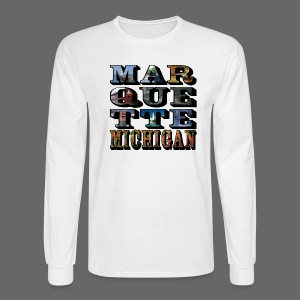 Marquette MI Stacked - Men's Long Sleeve T-Shirt