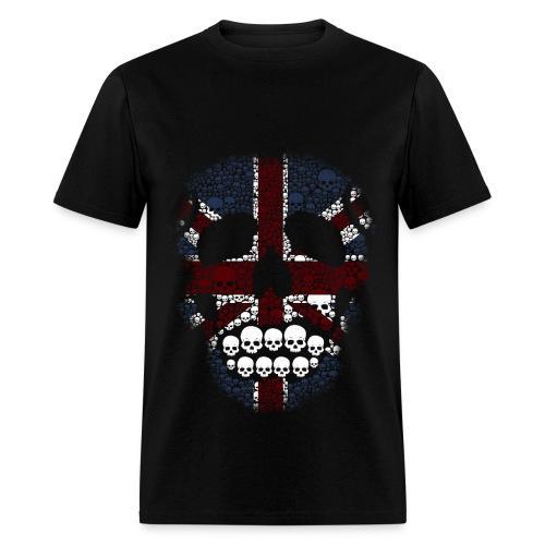 EclecticInk.net, ARTS E-ZINE, Union Jack Skull  - Men's T-Shirt