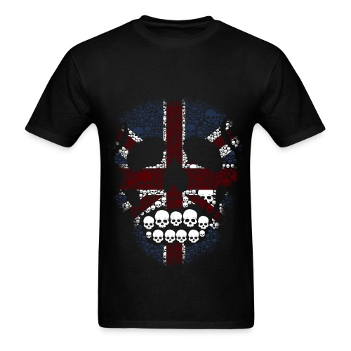 EclecticInk.net, ARTS E-ZINE, Union Jack Skull  - Men's T-Shirt
