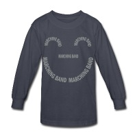 Marching Band Smile - Kids' Long Sleeve T-Shirt