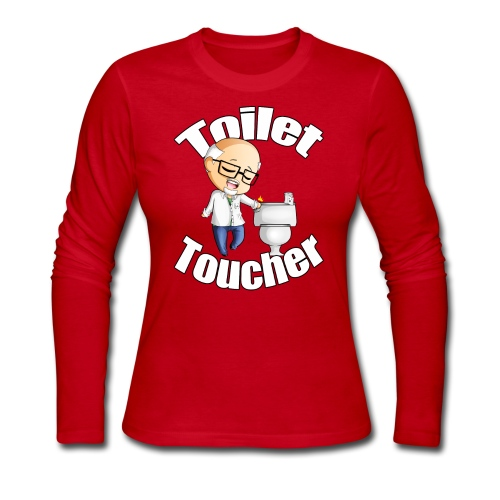 The Toilet Toucher - Women's Long Sleeve Jersey T-Shirt