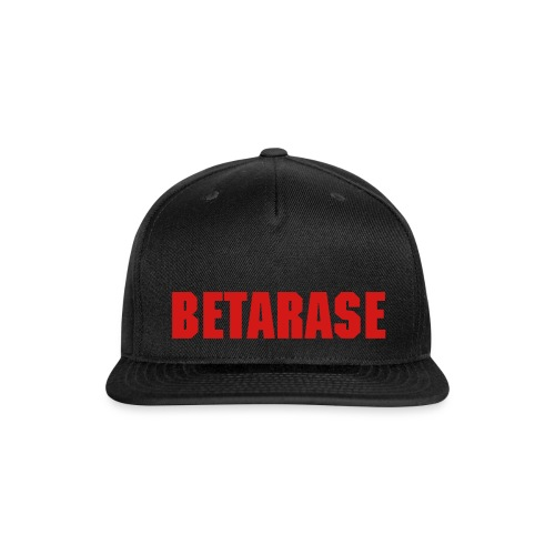 BETARASE - CAP (BLACK/RED) - Snap-back Baseball Cap