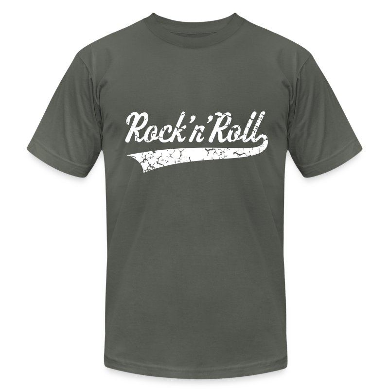 Rock 39 n 39 roll vintage t shirt spreadshirt for Rock and roll shirt shop