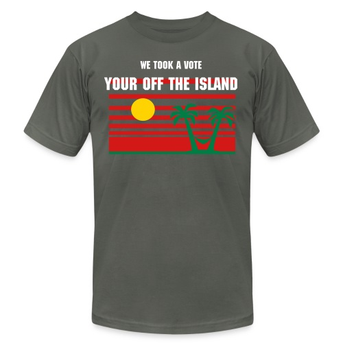 voted off the Island - Men's Fine Jersey T-Shirt