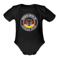 Baby & Toddler Shirts ~ Baby Short Sleeve One Piece ~ German Pride Infant One Piece
