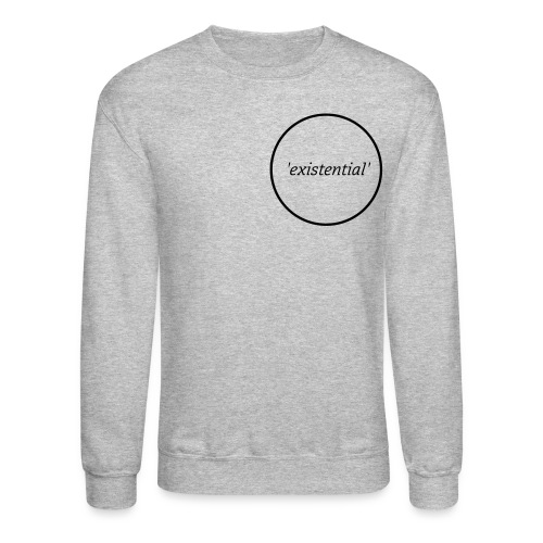 Mens Plain 'existential' Sweater - Crewneck Sweatshirt