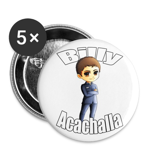 Billy Acachalla - Buttons large 2.2'' (5-pack)