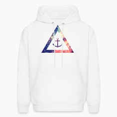 Galaxy / universe / hipster triangle with anchor Hoodies