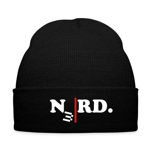 N3RD.skull - Knit Cap with Cuff Print