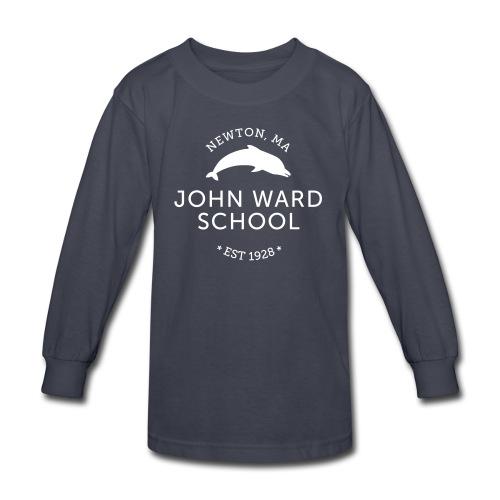 WHITE LOGO - Kid's Long Sleeve T-Shirt -  Multiple color choices available - Kids' Long Sleeve T-Shirt