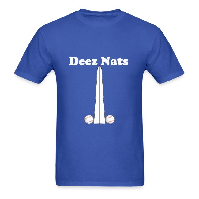 separation shoes f77d0 23260 Washington Nationals Deez Nats Blue T Shirt | Men's T-Shirt