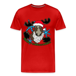 Santa moose  - Men's Premium T-Shirt