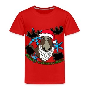 Santa moose  - Toddler Premium T-Shirt