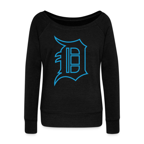Outline D Blue - Women's Wideneck Sweatshirt