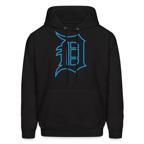 Outline D Blue - Men's Hoodie