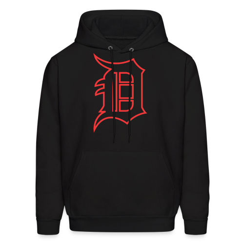 Outline D Red - Men's Hoodie