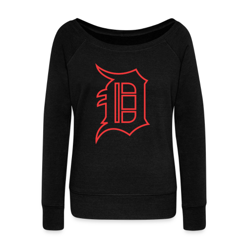 Outline D Red - Women's Wideneck Sweatshirt